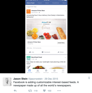 Facebook Custom Newsfeeds