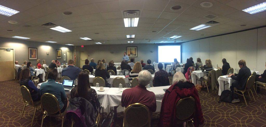 Dave Serino speaking in Marquette