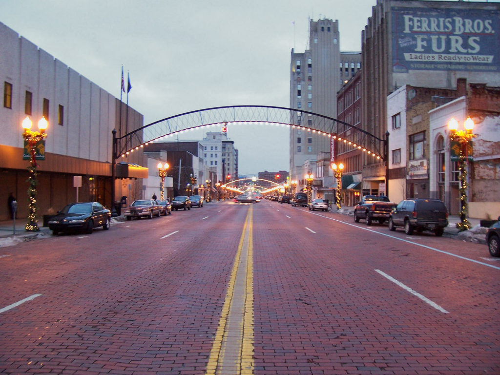 This is a photo of downtown Flint, Michigan.
