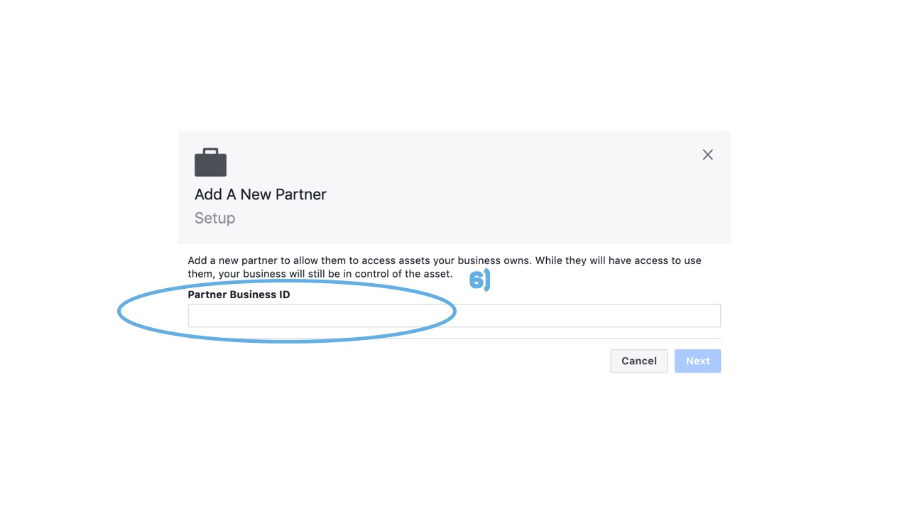 Facebook Business Manager Partner Business ID
