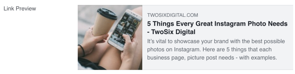 Facebook Links Picture too Small Example - 5 Things Every Great Instagram Photo Needs