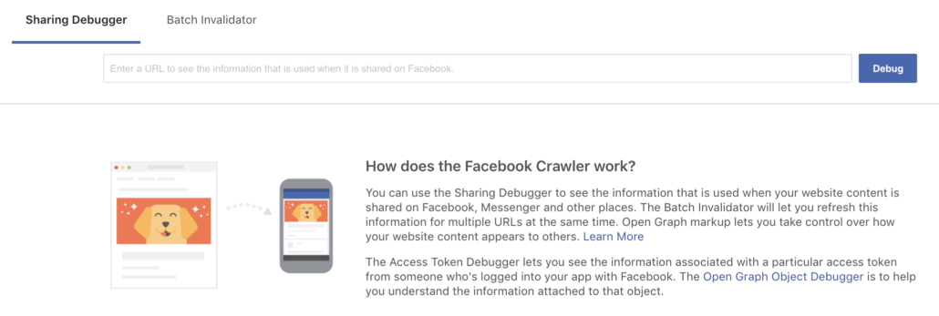 Facebook Links Sharing Debugger