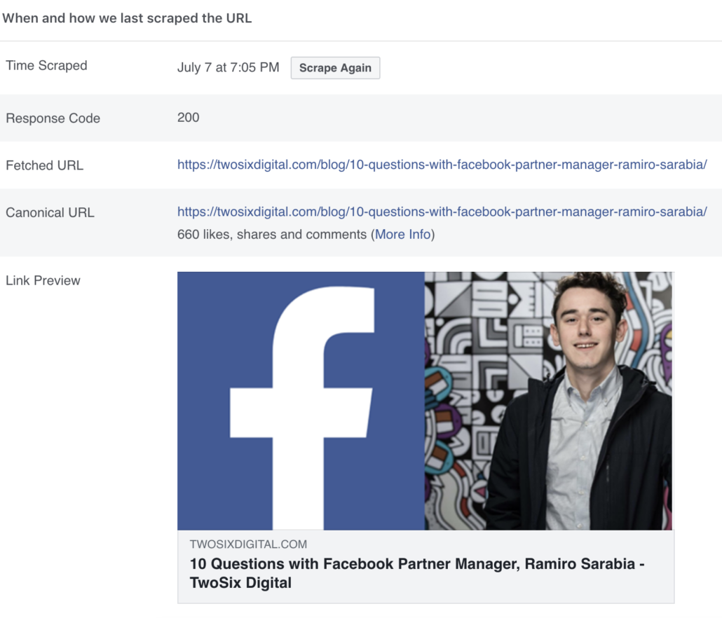 See Facebook Likes Comments Shares on Links - 10 Questions With Facebook Partner Manager Ramiro Sarabia