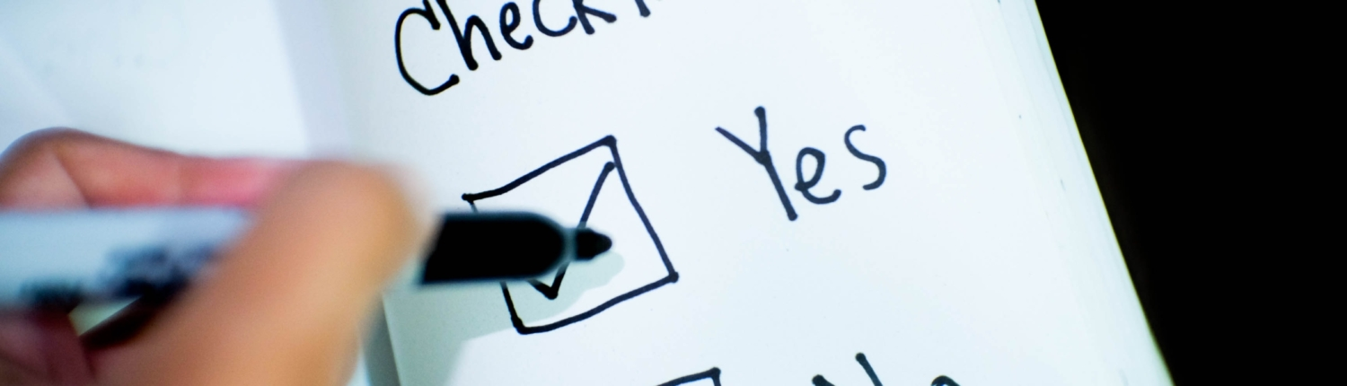 Ensure the Information is Correct - Checklist